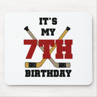 Hockey 7th Birthday Mouse Pad