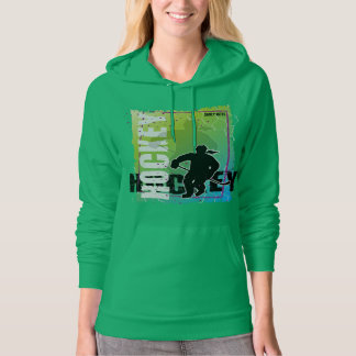 Hockey Abstract (female) Hoodie
