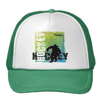 Hockey abstracto (femenino) gorras