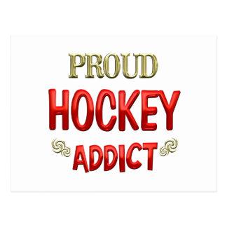 Hockey Addict Postcard