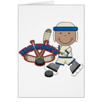 HOCKEY - African American Boy Tshirts and Gifts Card
