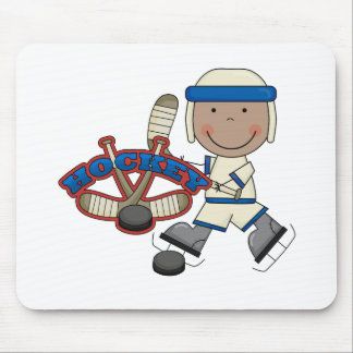 HOCKEY - African American Boy Tshirts and Gifts Mouse Pad