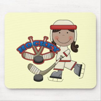 HOCKEY - African American Girl Tshirts and Gifts Mouse Pad