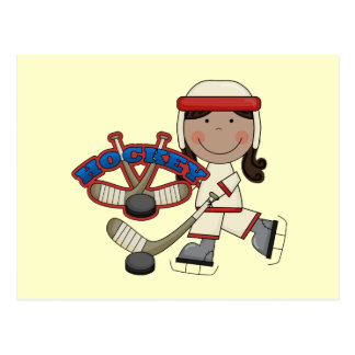 HOCKEY - African American Girl Tshirts and Gifts Postcard