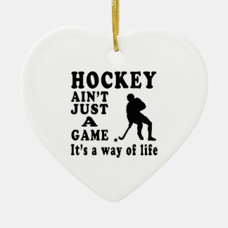 Hockey Ain't Just A Game It's A Way Of Life Ornament