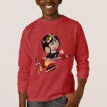 HOCKEY ALIEN CARTOON Kids' Basic Long Sleeve T-Shi T-Shirt