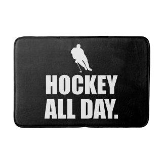 Hockey All Day Bathroom Mat