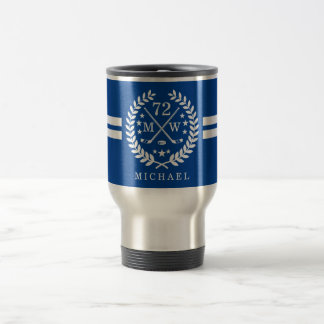 Hockey ALL-STAR Custom Initials, Name, Blue Travel Mug
