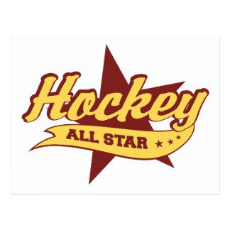 Hockey All Star Post Card