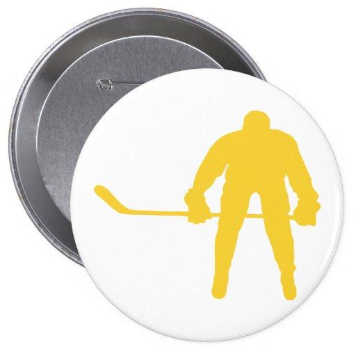 Hockey ambarino amarillo pin