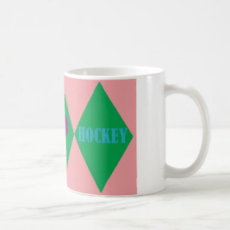 Hockey Argyle Coffee Mug