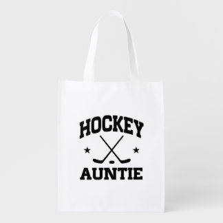 Hockey Auntie Grocery Bag