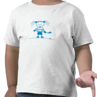 Hockey AZUL del palillo Camiseta