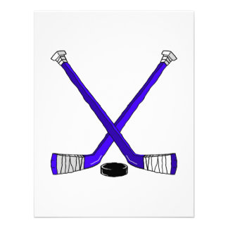 Hockey azul invitación personalizada