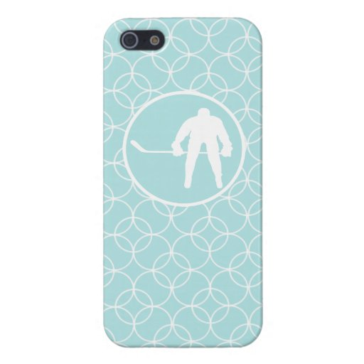 Hockey; Baby Blue Circles Covers For iPhone 5