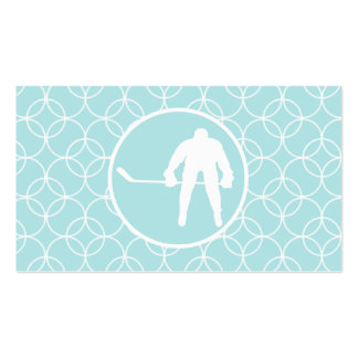 Hockey; Baby Blue Circles Double-Sided Standard Business Cards (Pack Of 100)