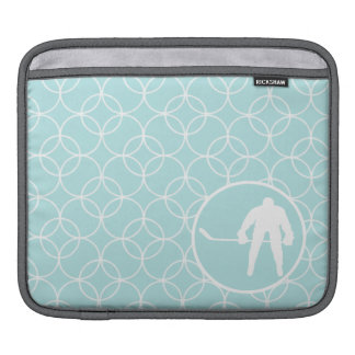 Hockey Baby Blue Circles Sleeves For iPads