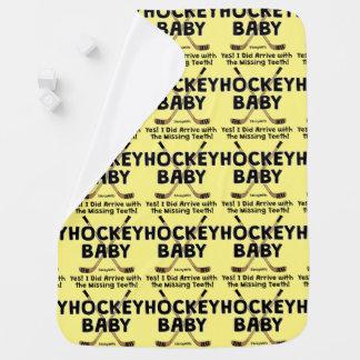 Hockey Baby Missing Teeth Receiving Blanket