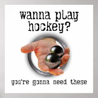 Hockey Balls Poster