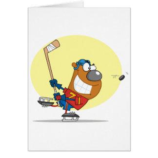 Hockey-Bear-Player Card