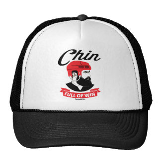 Hockey Beard Chin Full of Win Playoff Trucker Hat
