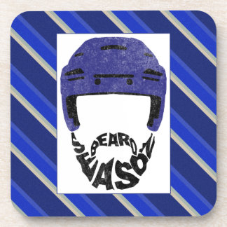 Hockey Beard Season Drinks Coasters