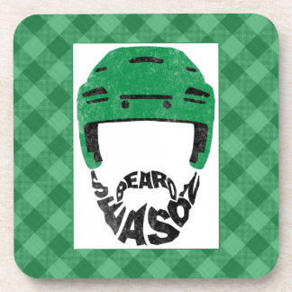 Hockey Beard Season Set of Coasters