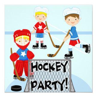 Hockey Birthday Party Birthday Invitations