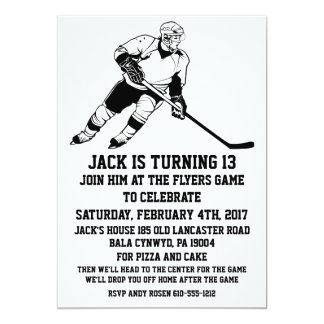 Ice Hockey Birthday Party Invitations Announcements Zazzle