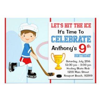 Hockey Birthday Party Invitation