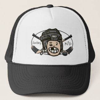 Hockey Black Trucker Hat
