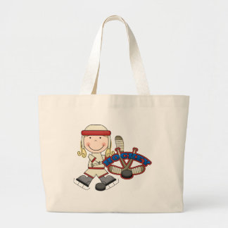 HOCKEY - Blond Girl Tshirts and Gifts Large Tote Bag
