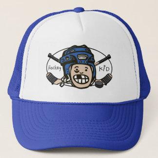Hockey Blue Trucker Hat