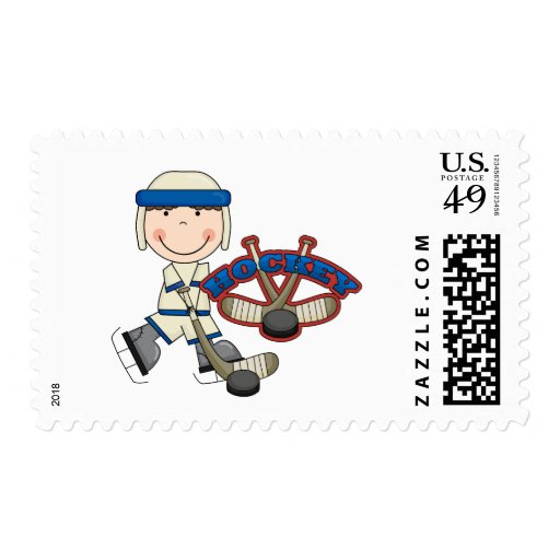 HOCKEY - Boy Tshirts and Gifts Postage Stamp