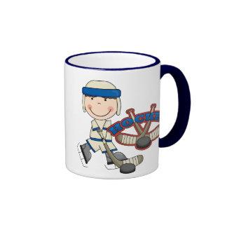 HOCKEY - Boy Tshirts and Gifts Ringer Mug