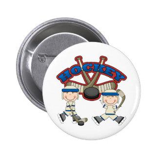 Hockey Boys Pinback Button