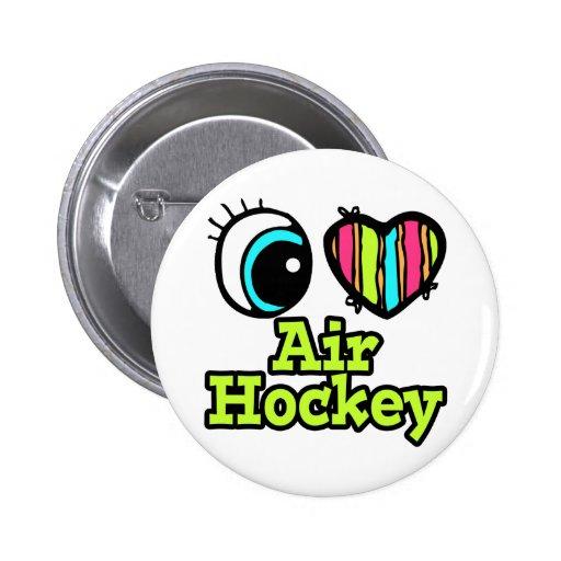 Hockey brillante del aire del amor del corazón I d Pin