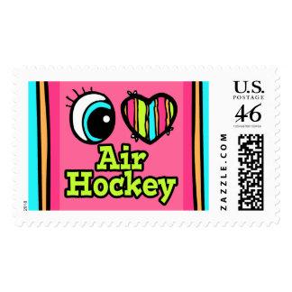 Hockey brillante del aire del amor del corazón I d