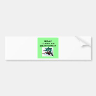 hockey car bumper sticker