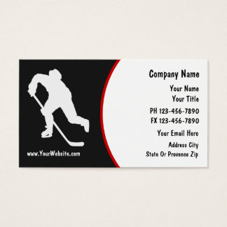 Hockey Business Cards