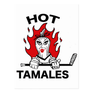 Hockey caliente del tamal tarjeta postal
