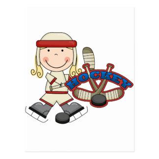 HOCKEY - camisetas y regalos rubios del chica Postales