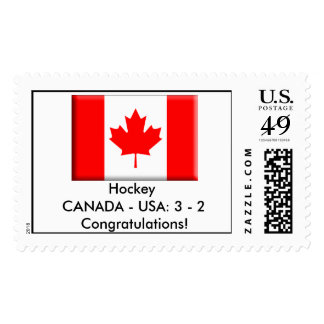 Hockey CANADA - USA: 3 - 2 Congratulations! Postage