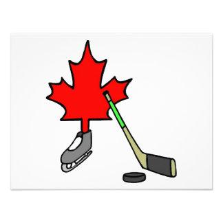 Hockey canadiense invitación