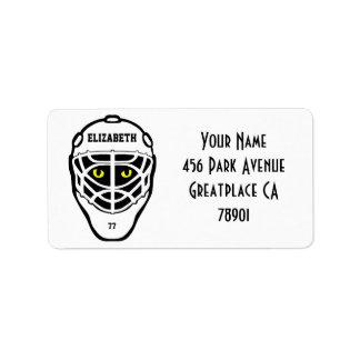 Hockey Cat Eyes Helmet Address Lable Address Label
