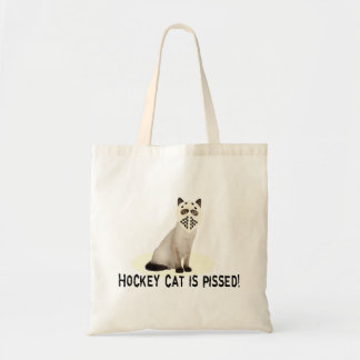 Hockey Cat Pissed Tote Bag