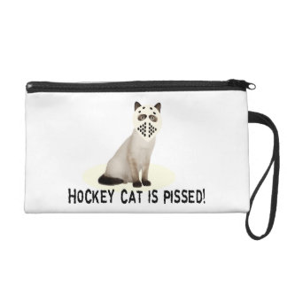 Hockey Cat Pissed Wristlet Purse