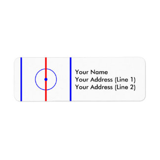 Hockey Centre Ice & Blue Lines Label