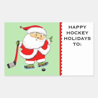 hockey Christmas gifts personalized Rectangular Sticker