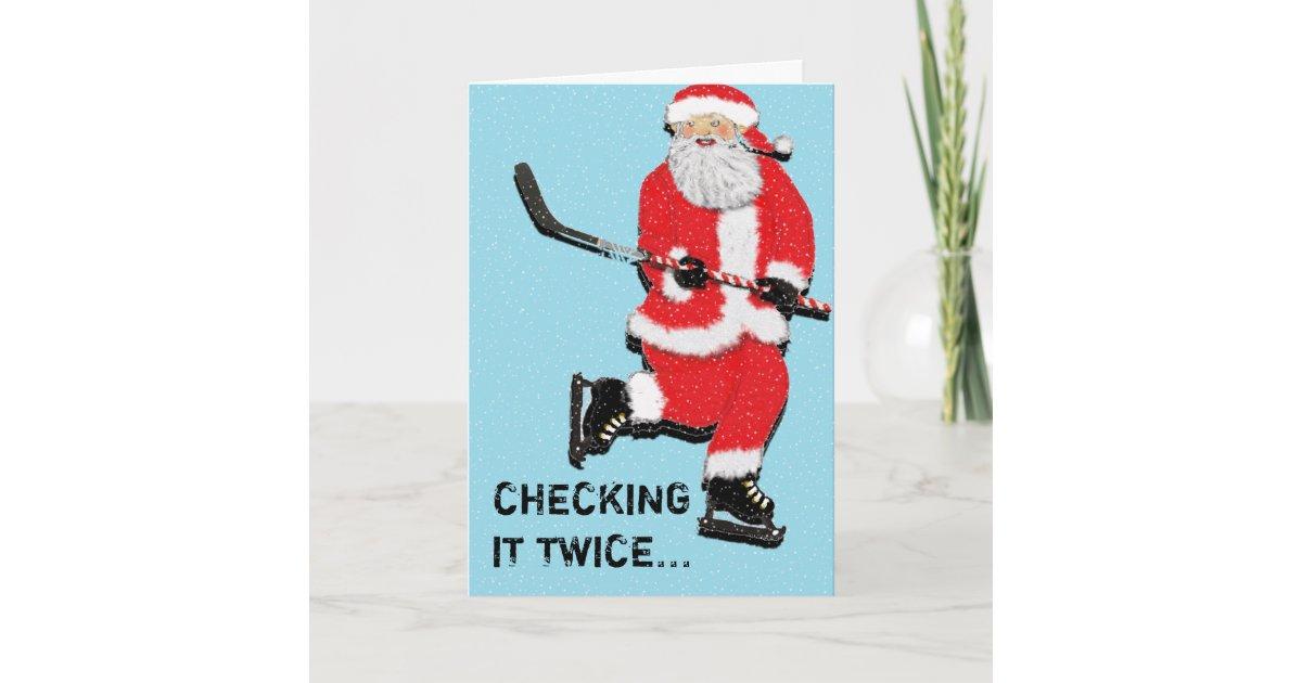 Hockey Christmas greeting cards   Zazzle.com